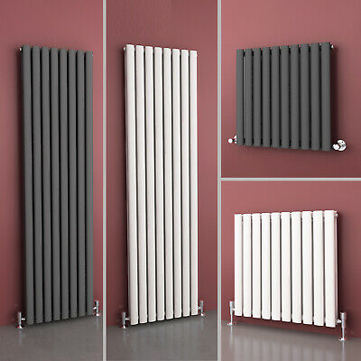 Chrome White Anthracite Single Double Oval Horizontal Vertical Designer Radiator