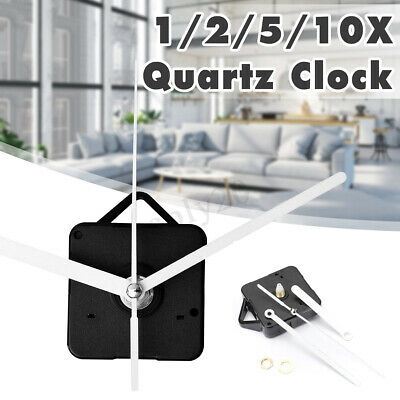 DIY Black Wall Quartz Clock Movement Mechanism White Hands Repair Tools Kit NEW