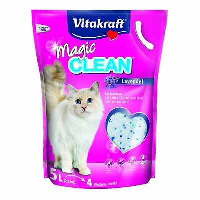Vitakraft Cat Litter Magic Clean Lavender - 5 Litre - Dust-Free Absorbent