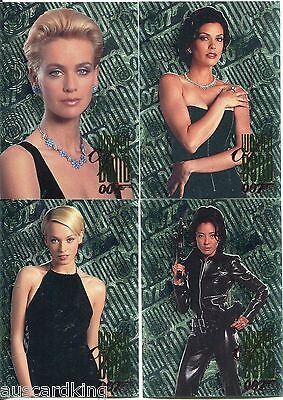 James Bond 007 - Tomorrow Never Dies - Women Of Bond - Chase Card Set (4) - NM