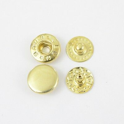 90 S-Spring Push buttons VT-2 / 10mm, gold, Button for Clothing, Fabric, Tinker