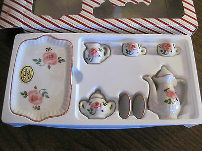 Andrea By Sadek Pink And White Small Tea Set (Nib)