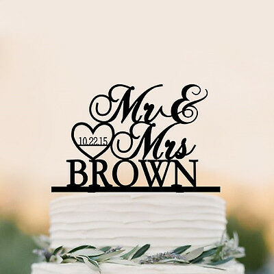 Personalized Wedding Cake Topper Mr and Mrs  Cake Topper party decor topper
