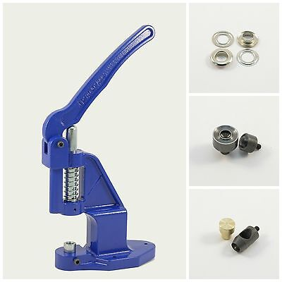Set Eyelet press + 250 silver 10mm rust-free +2 Tools for Hand Rivets