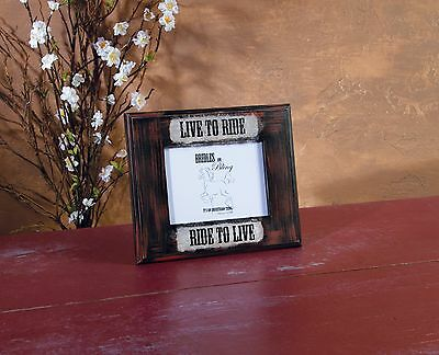 """"""" Live To Ride Photo Frame """" Horse Wall Art Sign Home Decor Farm Country Barn"""