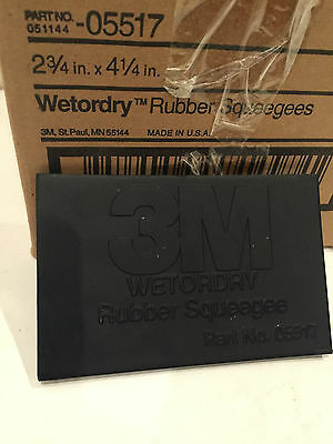 "3M 05517 Wet Or Dry Rubber Squeegees 2-3/4"" X 4-1/4"" Lot Of 2"