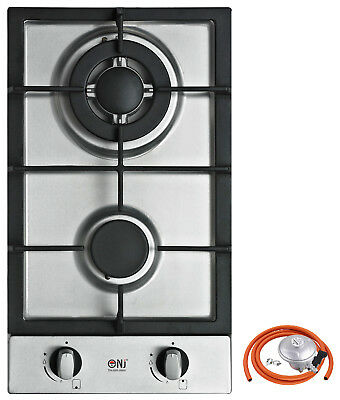 Domino 302-S 30cm Built-in Gas hob 2 burner Cooktop Stainless steel FFD NEW