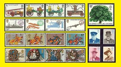 1974 All Commemorative Issues of Great Britain each Sold Separately Mint nh