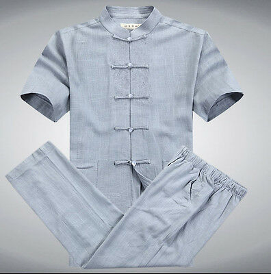 Oriental Element New Arrival Chines​​e Men's Cotton Linen Kung Fu Suits M-3XL