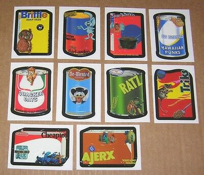 TOPPS 2007 WACKY PACKAGES ANS6 COMPLETE MAKE YOUR OWN SET 10//10 CARDS AJERX RATZ