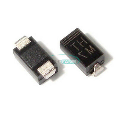 100PCS SMD 1N4007 Diode 1A 1000V IN4007 M7 DO-214AC NEW