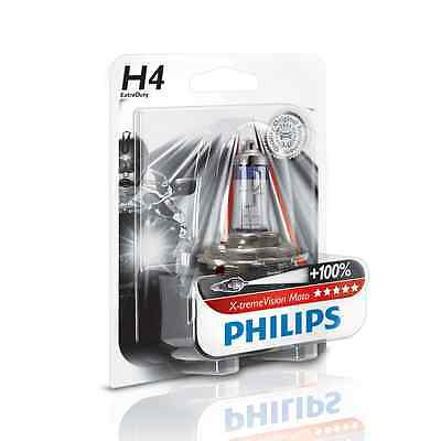 Lampara Philips H4 12V 60/55W PX26D Xtreme Vision Moto +100%