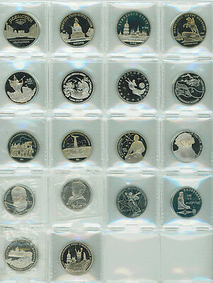Russia And Ussr Lot Of 18 Pcs. Of 1, 3 And 5 Roubles. Most Are Gem Proofs.