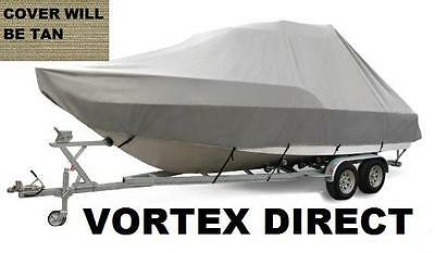 """NEW VORTEX BLUE 23/'6/"""" CENTER CONSOLE BOAT COVER FOR UP TO 54/"""" TALL CONSOLE"""