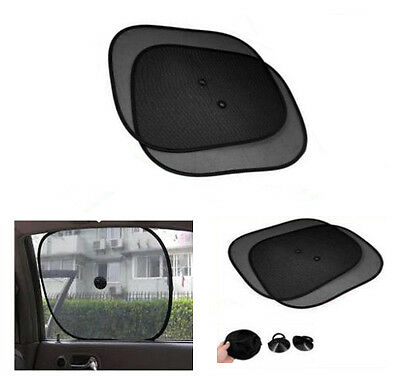 Pair of Black Baby Car Sun Shade Alphabet Numbers Window Sunshade Blinds Shield