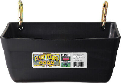 Little Giant Fence Feeder W/Snaps, No. FF11BLACK,  by Miller Mfg Co