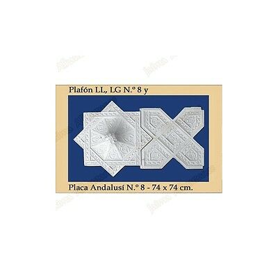 Recessed light fitting Andalusi - Plaster - 74 x 74 cm