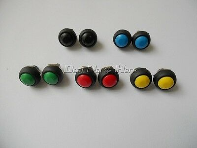 10pcs 5color 12mm Waterproof momentary ON/OFF Push button Mini Round Switch M155