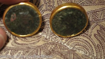 GURHAN  - Ancient Roman coin earrings in 24k gold  Retail $5,000