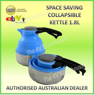 Silicone Kettle 1.8L Collapsible Space Saving New Caravan RV  Boat Camping Parts