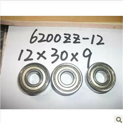 12 x 30 x 9mm Shielded Micro Deep Groove Ball Model Radial Bearing