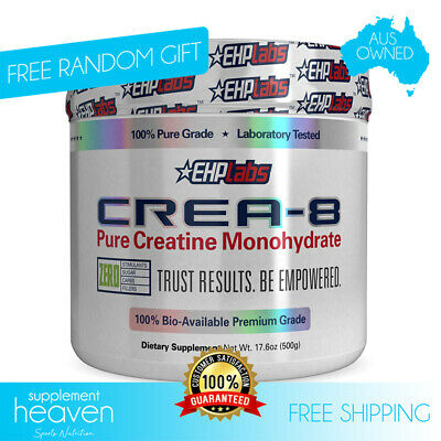 Ehplabs Crea-8 Pure Creatine Monohydrate - 100 Serves Cre8 Ehp Labs 100% Pure