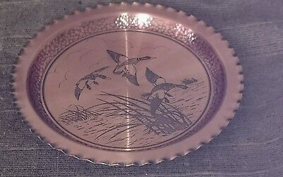 Vintage Copper, Round Bevilled Serving Tray /wall Hanging, Made In Canada.