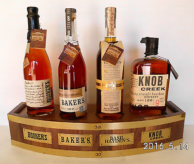 Jim Beam Small Batch Collection Full Set Complete With Timber Barrel Stand-RARE!