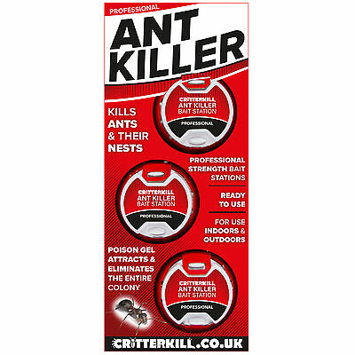 Ant Killer Bait Station, Professional Strength, Indoor/Outdoor, Eradicates Nest