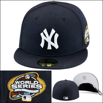 c8d5fc9a92a New Era New York New York Yankees Fitted Hat 2003 World Series Side Patch  MLB