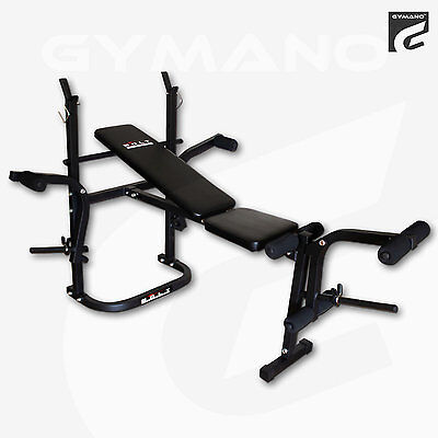 BOLT by GYMANO | 6-IN-1 ADJUSTABLE/BARBELL BENCH & LEG CURL/EXTENSION