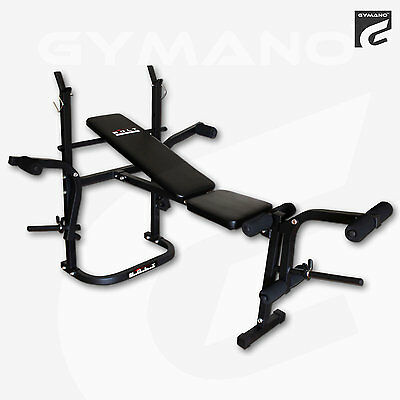 BOLT by GYMANO | 6-IN-1 ADJUSTABLE/FOLDABLE BARBELL BENCH & LEG CURL/EXTENSION
