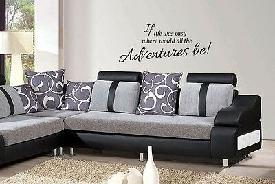 Life Quote wall art sticker If life was easy where would all the adventures be!