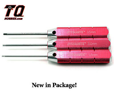Dynamite 1.5, 2, 2.5mm Steel Machined Hex Driver Metric Set DYN2904 Ship wTrack#