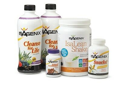 Isagenix - 9 Day Deep Cleanse Chocolate with 5 piece sampler pack