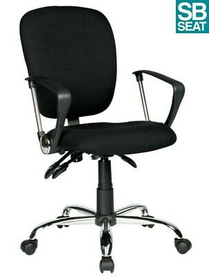 Atlas Black Fabric Computer 3 Lever Value Task Office Operator Chair Graded 95%