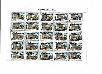 Sheet of 25 X30c Republique Rawandaise  Stamps Dated 1980 MNH (lot4)
