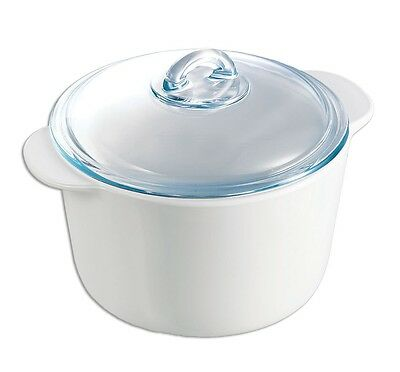 Pyrex Flame 3.0L Casserole with Lid - Suitable For Hob,Oven,Microwave, Freezer.