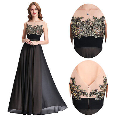 Formal Long Chiffon Bridesmaid Dress Ball Prom Gown Evening Party Cocktail Dress