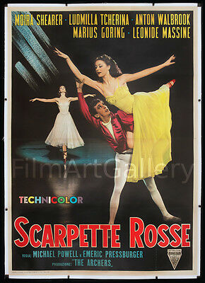THE RED SHOES Huge 55x78 linen-backed poster Powell & Pressburger filmartgallery