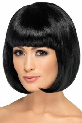 Long Bob Wig Black Mia Pulp Fiction Fancy Dress Costume Party Hair Accessory