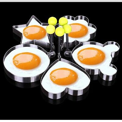 Cooking Kitchen Tool Stainless Steel Fried Egg Shaper Ring Pancake Mould Mold RF