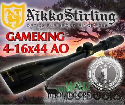 Nikko Stirling - Rifle Scope - Game King -4-16x44AO - Half Mil Dot Reticle