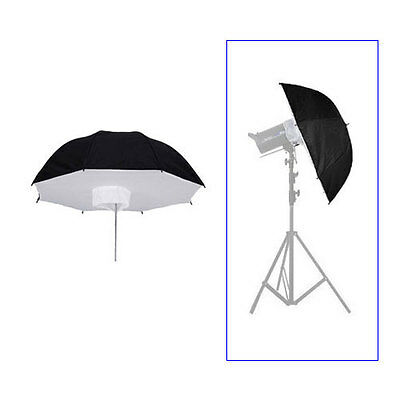 "110cm/43"" Photo Studio Umbrella Softbox Brolly Reflector For Flash Strobe Light"