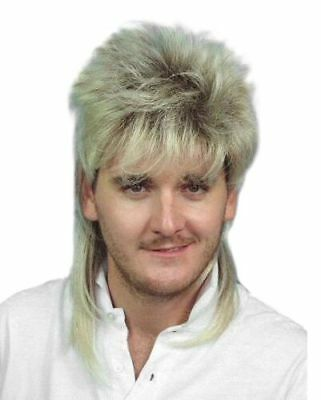 Dirty Blonde Mullet Costume Fancy Dress Party Wig