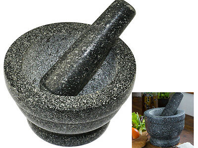 Kitchen Natural Granite Pestle And Mortar Spice Herb Crusher Grinder Grinding
