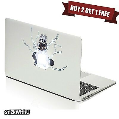 Macbook Air Pro Skin Sticker Decal Naruto Shippuden Anime Kakashi Hatake bn335