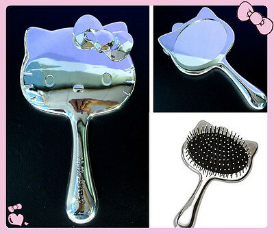 New Hellokitty Make Up Hand Mirror / Comb AA-9902