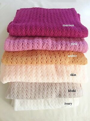 Newborn Knit Blanket Wrap Baby Photo Prop fabric Backdrop Maternity Shoot