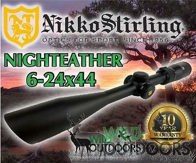 Nikko Stirling - Rifle Scope - Night Eater -6-24x44 SF - Mil Dot Reticle